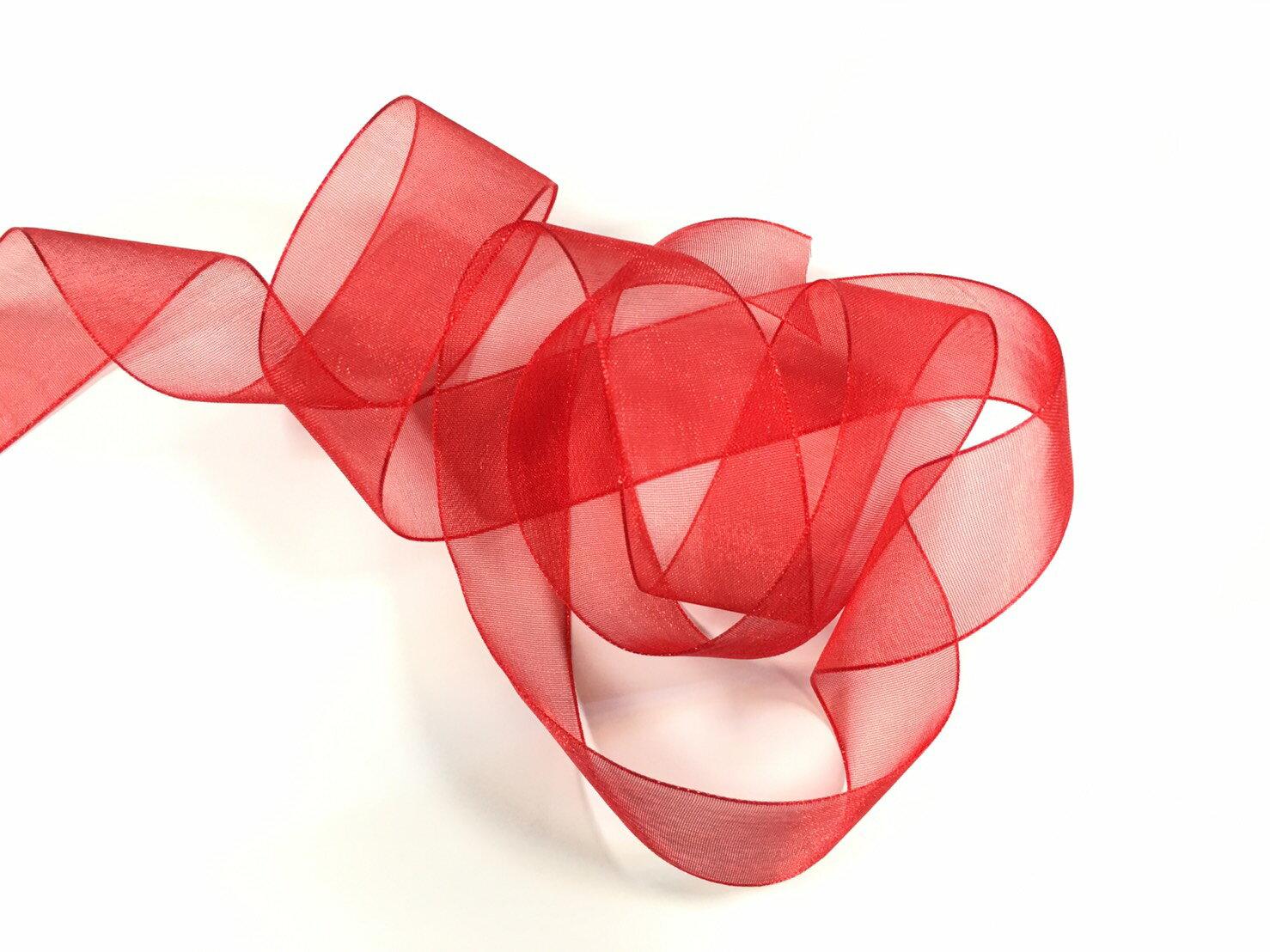 【Crystal Rose緞帶專賣店】光澤網紗緞帶 3碼裝 (10色) 4