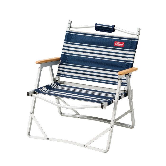 《台南悠活運動家》Coleman 美國 圍爐輕薄折疊椅 經典條紋藍 CM-31288