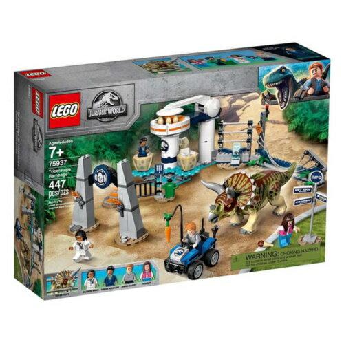 樂高LEGO 75937  Jurassic World 侏儸紀世界系列- Triceratops Rampage - 限時優惠好康折扣