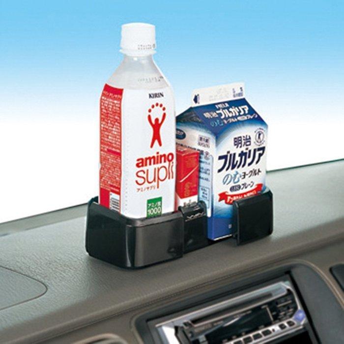 權世界~汽車用品  SEIWA 儀表板黏貼式滑動擴展收納置物盒 飲料架 杯架 W364