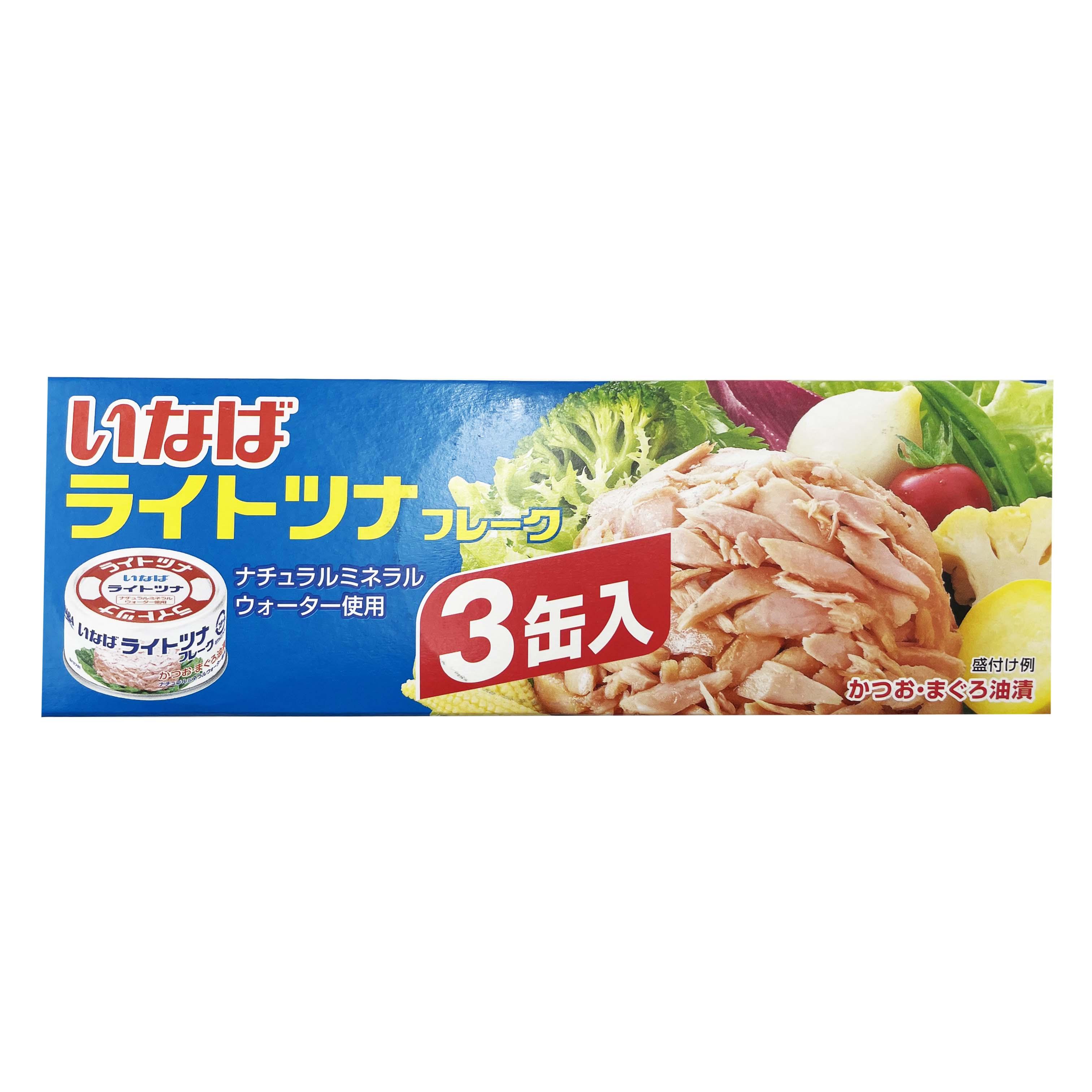 日本 INABA稻葉 3入 鮪魚 鰹魚 罐頭 210g 鮪魚鰹魚罐