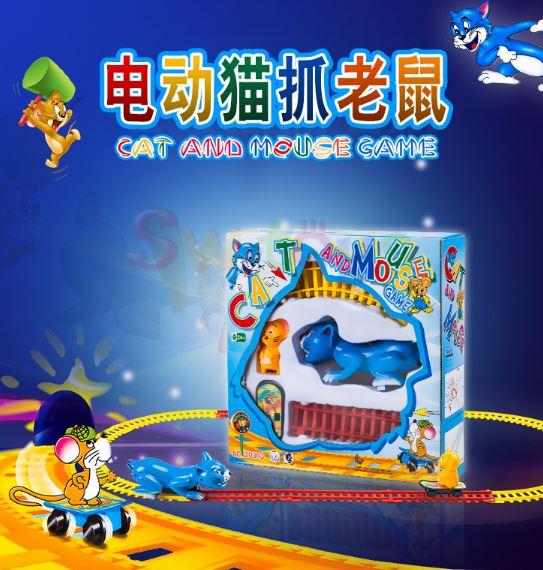【省錢博士】貓抓老鼠電動軌道玩具車