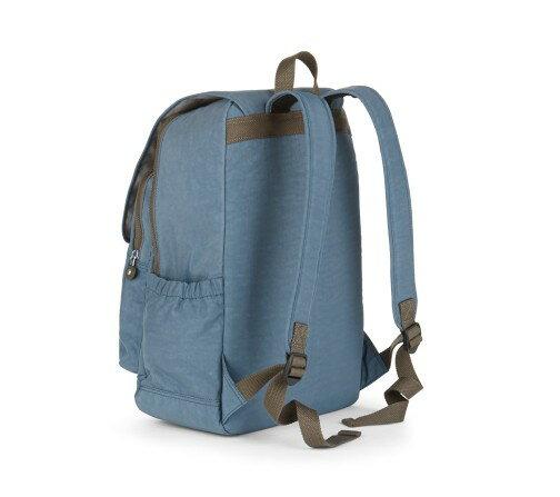 OUTLET代購【KIPLING】雙側口袋大容量旅行後背包  灰藍 1