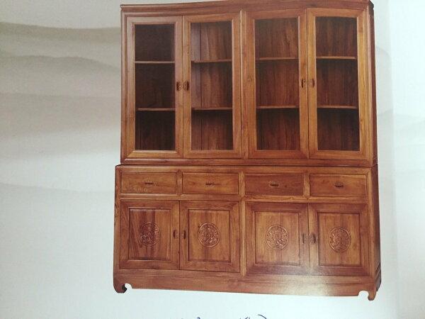 【石川家居】KL-73柚木6.3尺中式牡丹四門書櫃收納櫃展示櫃台中以北搭配車趟免運費