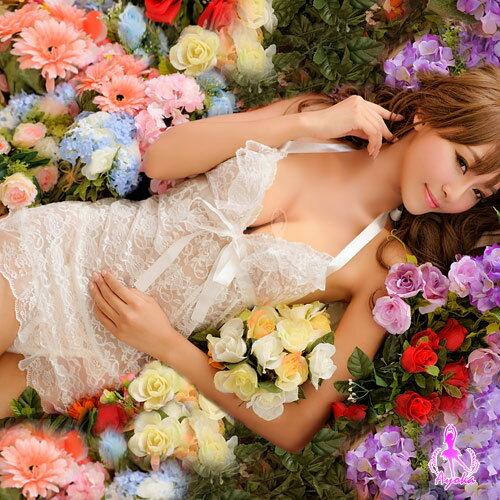 亞娜絲情趣用品愛戀之迷!二件式蕾絲睡襯衣+丁字褲性感睡衣