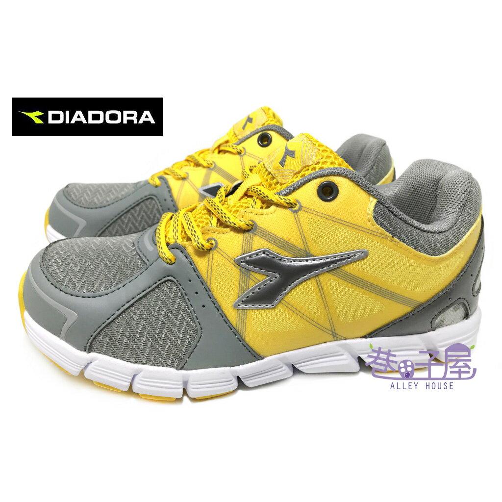【巷子屋】義大利國寶鞋-DIADORA迪亞多納 男童瓢蟲飛輕量慢跑鞋 [2713] 黃
