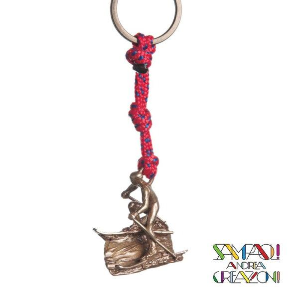 【SAC義大利】青銅掛飾吊飾-下坡滑雪者義大利傳統飾品工藝SAC24