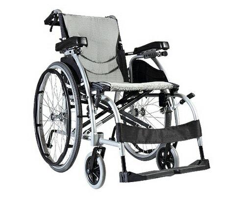 康揚 鋁合金手動輪椅 舒弧106~人因舒背型 贈好禮三選一