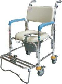 馬桶椅 CS-012 四輪不鏽鋼洗澡椅便器椅