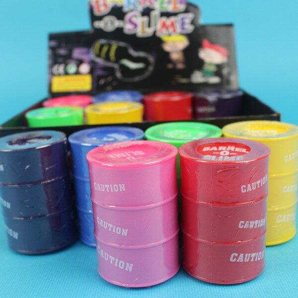 大油桶沙皮膠史萊姆彩色水黏土鼻涕膠一盒12個入{促30}~不黏手果凍膠整人玩具YF11569