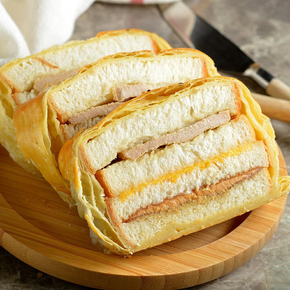 【拿破崙先生】法式花生醬豬排起酥三明治(1入 / 8片裝) 3