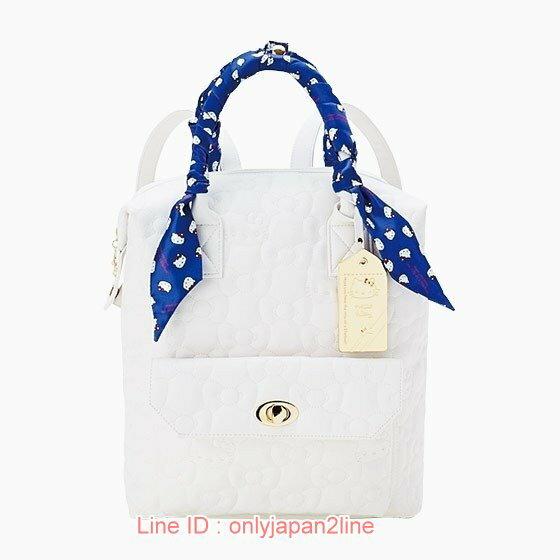 【真愛日本】17021500034  皮革後背包-KT旅行白+AAB   三麗鷗Hello Kitty凱蒂貓 後背包 背包 書包