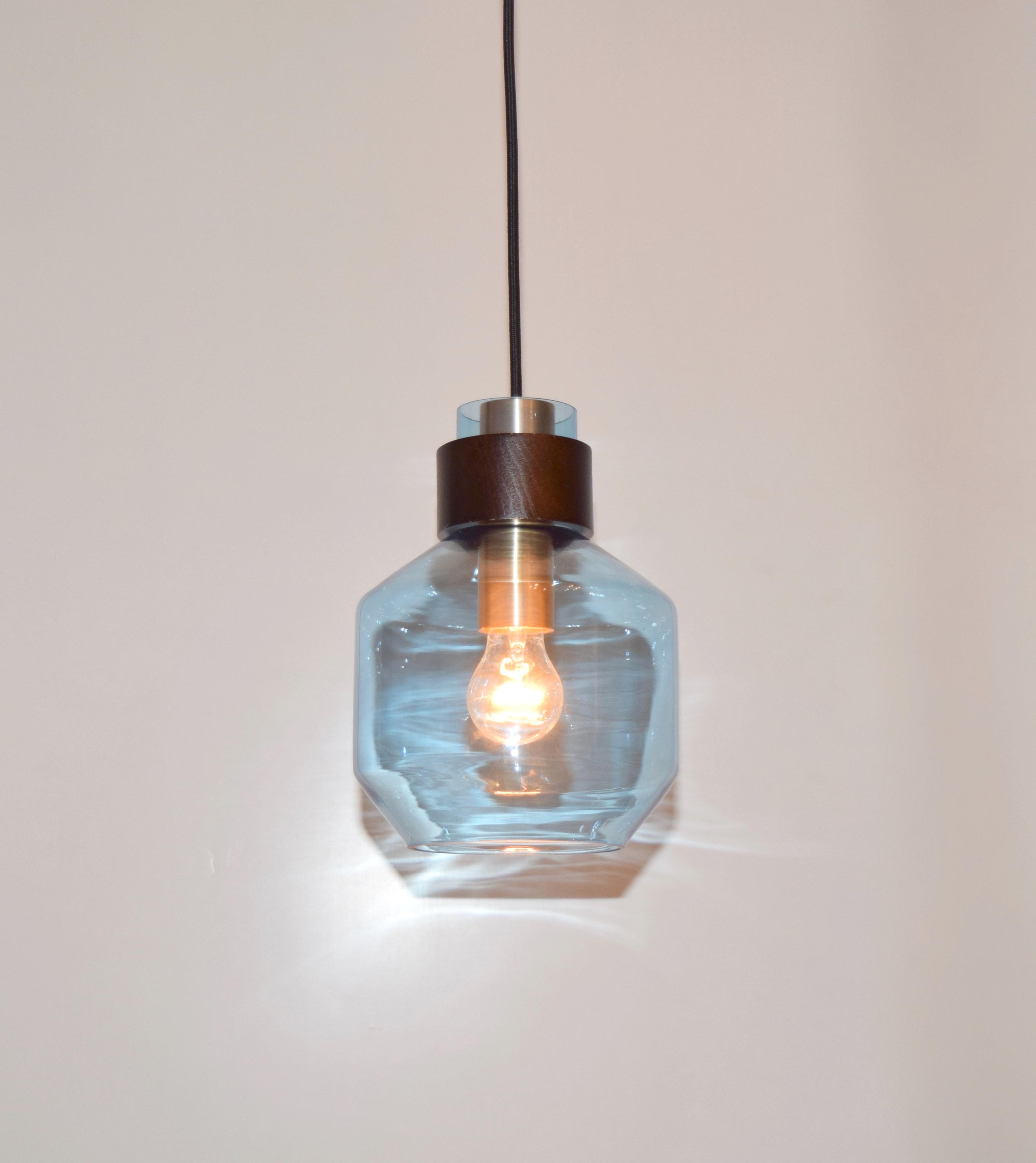 水藍色寬酒瓶造型吊燈-BNL00122 0