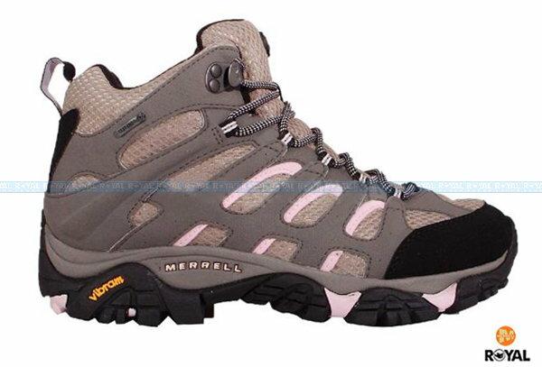 MERRELL 新竹皇家 MOAB MID GORE-TEX 灰/粉 防水 高筒 運動鞋 女款 NO.I6093