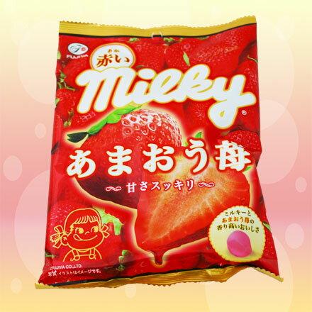 [敵富朗超市]不二家Milky草莓牛奶糖
