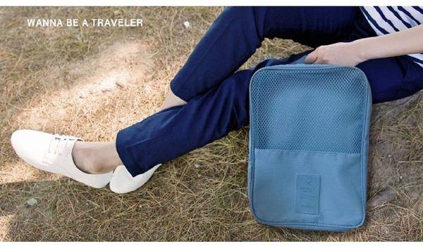 ♚MY COLOR♚第 韓系出國旅行 飛機收納鞋盒 外出攜帶手提防水鞋袋 收納袋 透氣收納