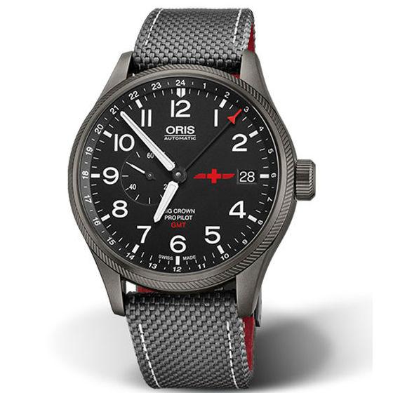 ORIS豪利時0174877104284-SET空中救援隊GMTRega雙時區限量錶機械腕錶黑面45mm