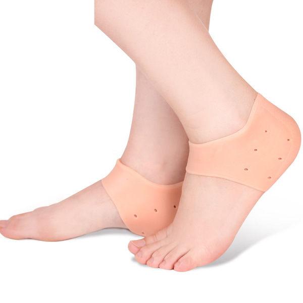 PS Mall 矽膠後跟保護套 帶孔 足跟幹裂保護男女用足部開裂防護套 【S149】