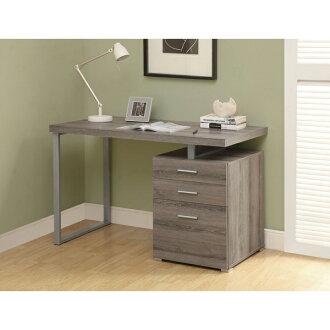 摩登電腦書桌 ( 深木色 ) / 書桌 / 電腦桌 / 辦公桌 & DIY組合傢俱