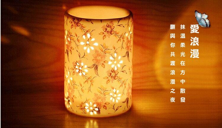 雕花陶瓷香薰爐 香薰精油爐 蠟燭台 家居日用品