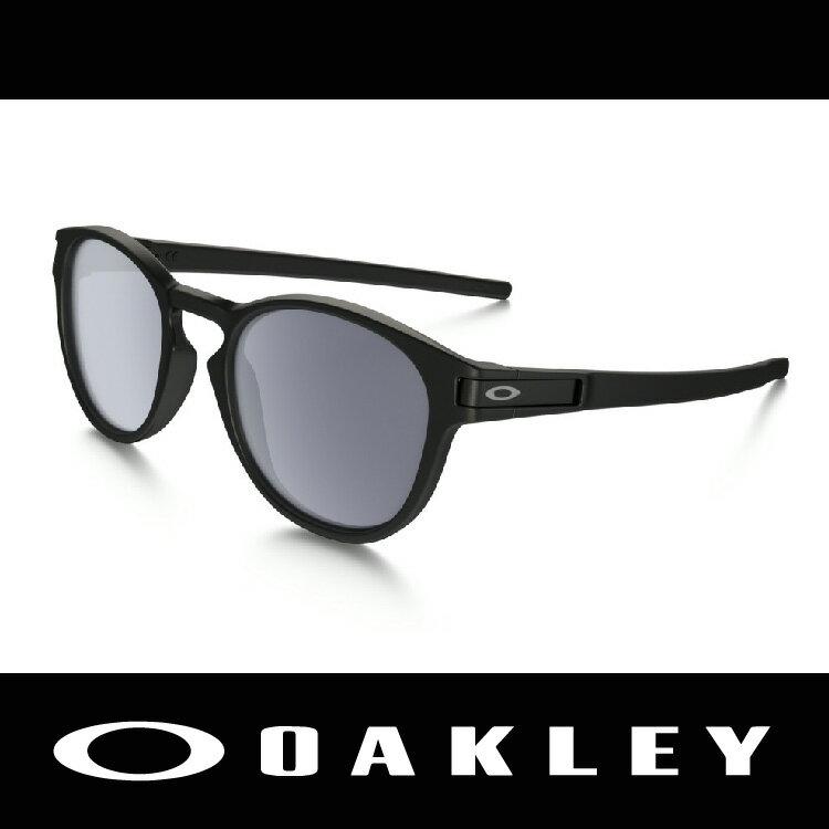 【新春滿額送後背包!只到2/28】OAKLEY 太陽眼鏡 LATCH 廣告款 圓形黑鏡框 休閒款 OO9265-01 萬特戶外運動