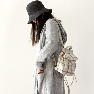 後背包棉麻雙肩包-文藝清新經典格紋女包包5色73sx25【獨家進口】【米蘭精品】