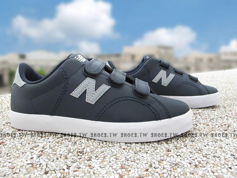 《下殺6折》Shoestw【KVCRTGRY】NEW BALANCE 童鞋 休閒鞋 中童 深藍灰 黏帶 大人女生可穿