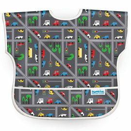 【淘氣寶寶】【美國Bumkins】兒童(1-3歲)短袖防水圍兜-小車車 BKU-300【保證公司貨】
