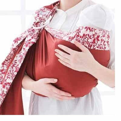 六甲村 樂活愛兒揹巾/火紅葉印 嬰兒背巾 揹帶 揹巾【六甲媽咪】