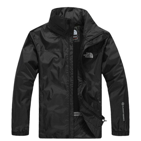 Topshop:北臉THENORTHFACE立領保暖外套防寒防風水機能衣系列風衣騎士外套黑色