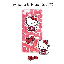 Hello Kitty 拭鏡貼透明軟殼 [蝴蝶紅] iPhone 6 Plus 5.5吋【三麗鷗正版授權】