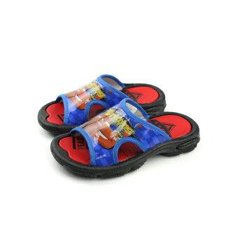 閃電麥坤 Cars 拖鞋 (無鬆緊帶) 童鞋 藍色 中童 no914