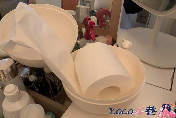 紙巾盒 北歐風圓臉小豬紙巾抽衛生卷紙收納盒塑料紙巾盒粉色白色