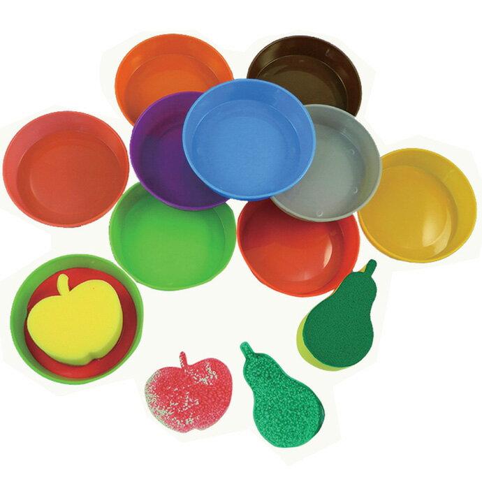 ~華森葳兒童教玩具~美育教具系列~海綿顏料沾盤 L1~AP  350  SDB