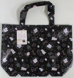 大賀屋 雙子星 黑色 不織布 手提袋 購物袋 環保袋 便當袋 三麗鷗 Kiki Lala日貨 正版 授權 J00013325