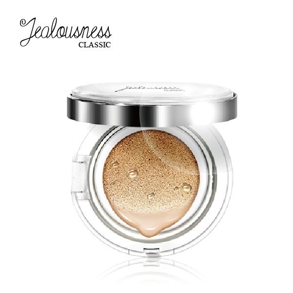 Jealousness 婕洛妮絲 晶燦水潤氣墊粉餅15g + 智慧型空氣魔法粉撲 x1【櫻桃飾品】【20852】