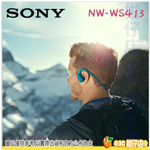 免運 送收納盒 SONY NW-WS413 4G 無線 運動型 MP3 防水 環境音 游泳 極速充電 台灣索尼公司貨 WS413 2