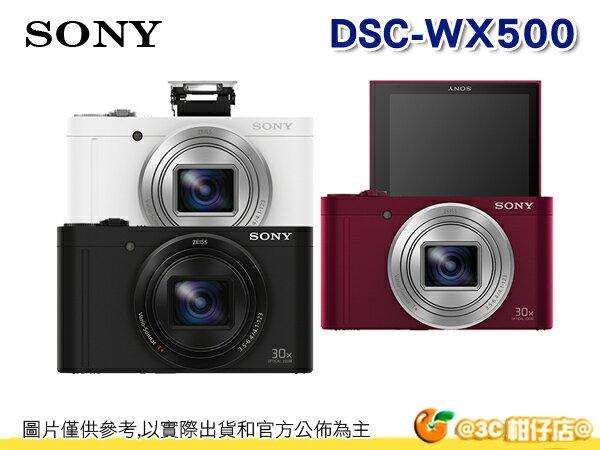 送原廠禮+原廠包等好禮 SONY DSC-WX500 數位相機 自拍 美肌 台灣索尼公司貨