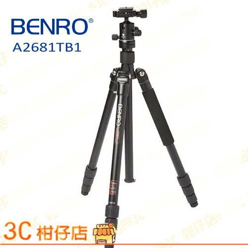 百諾 BENRO 旅遊天使系列 A2681TB1 (A2681M8+B1)  碳纖維反折可拆腳架+B雲台套組