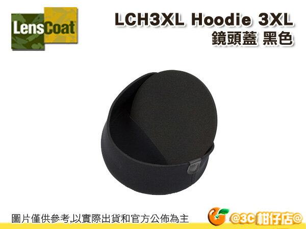 美國 Lenscoat LCH3XL 鏡頭蓋 保護套 Hoodie 3XLarge 黑色 防水 砲衣