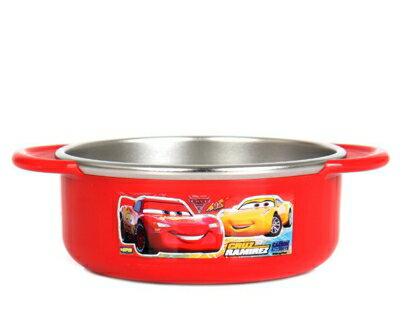 【真愛日本】17101400030不銹鋼雙耳碗350ML-CARS紅迪士尼汽車總動員麥坤餐碗飯碗