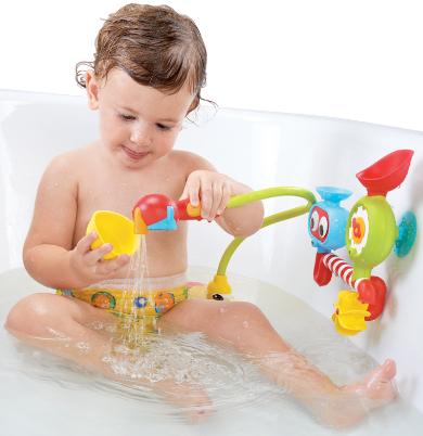 以色列 Yookidoo 戲水玩具-大眼瀑布蓮蓬頭套組【紫貝殼】