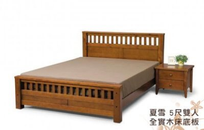 【夏雪】天然100%全實木床架(5尺雙人床 )★班尼斯國際家具名床 - 限時優惠好康折扣