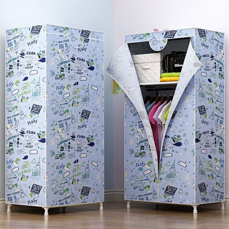 【店長推薦】衣櫃柜 簡易小衣櫃柜簡約現代經濟型組裝省空間單人宿舍臥室出租房用的衣櫥