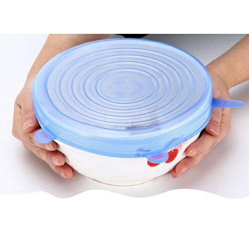 萬用彈性 矽膠保鮮膜 碗蓋 密封蓋 6入組(直徑6.5~20.5CM)(顏色隨機) [大買家] 3