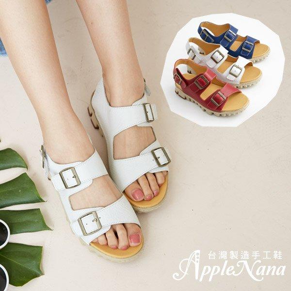 AppleNana蘋果奈奈【QTY251380】全面可調不分年齡輕量化真皮氣墊涼鞋 1