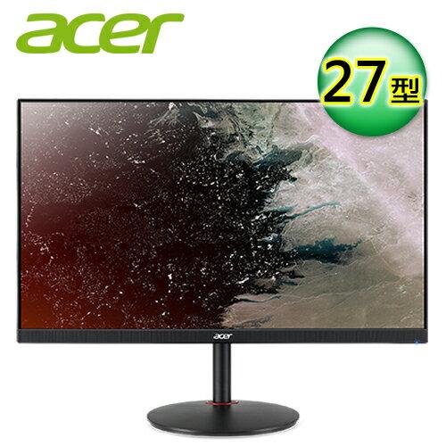 【Acer 宏碁】27型 Nitro 2K廣視角電競液晶顯示器(XV272U P)【三井3C】