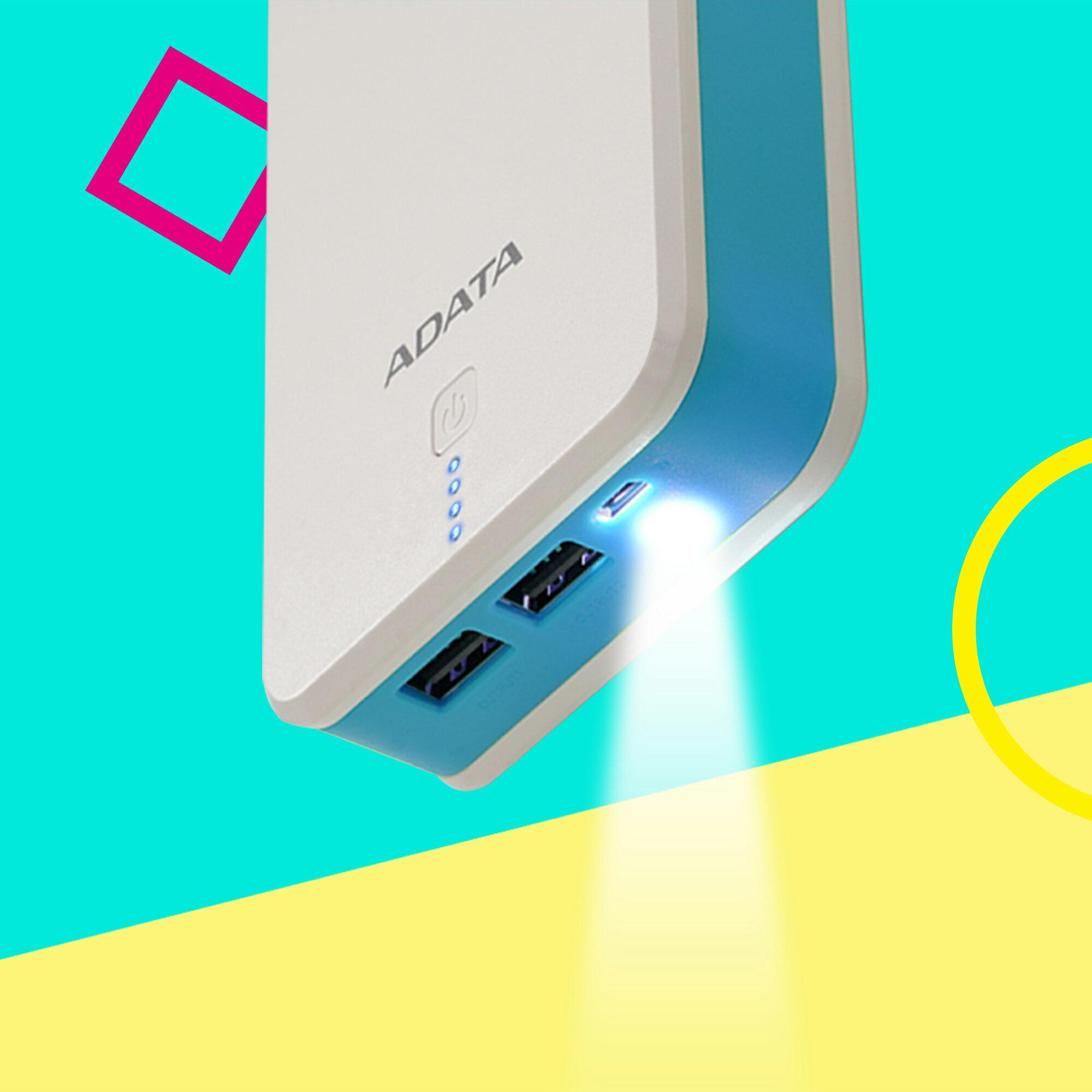 ADATA P20100 20000 mAh 2.1A Power Bank - White (AP20100-5V-CWHBL) 4
