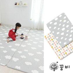 【總代理公司貨】韓國 DreamB 雙面兒童遊戲地墊~1.4CM 雲朵/幾何