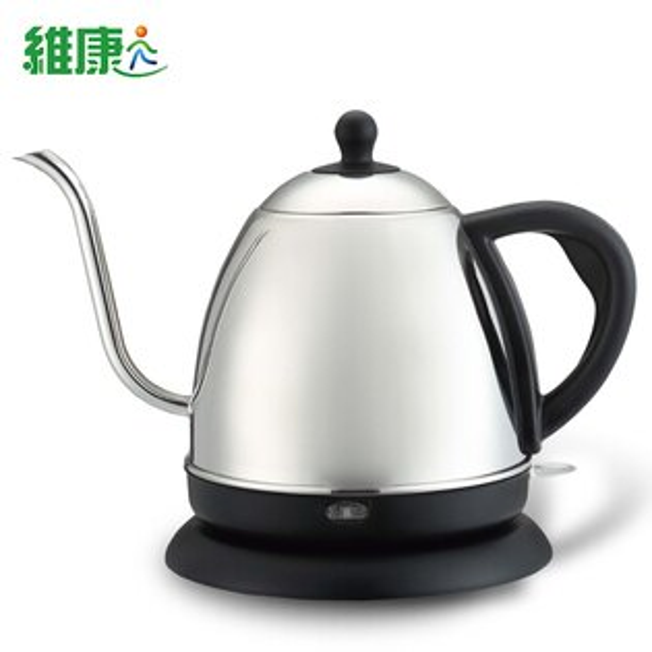 快樂老爹:【維康】長嘴細口不鏽鋼咖啡壺電茶壺1公升WK-1000